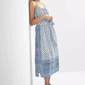 NWT Gap Mix-print Sleeveless Maxi Dress, Blue M